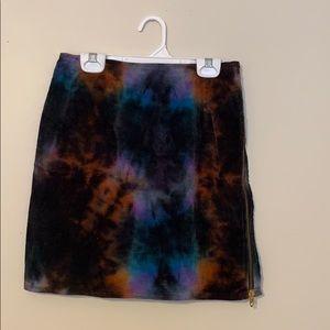 Dresses & Skirts - vintage corduroy tie dye skirt
